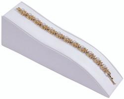White Slim Contour Bracelet Display