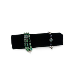 Black Velour Long Soft Bangle Small Stand