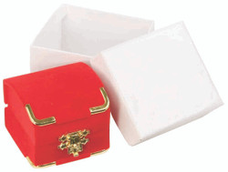 Red Bracelet/Watch Clasped Box