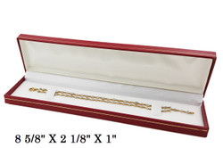 Red Bracelet/Watch Classic Leatherette Box