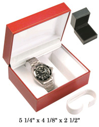 Black Double Watch Classic Leatherette Box
