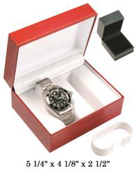 Black Double Watch Classic Leatherette Box