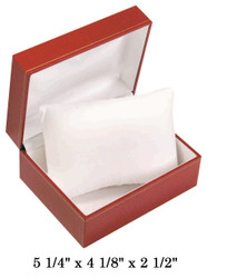 Red w/Pillow White satin interior Leatherette Watch Box