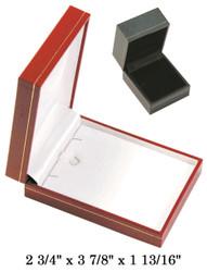 Black Large Pendant w/Black Satin interior Classic Leatherette Box