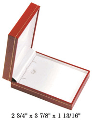 Red Large Pendant w/White Satin interior Classic Leatherette Box
