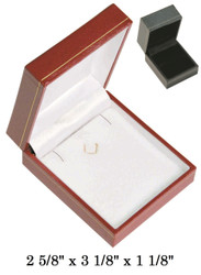 Black Earring/Pendant w/Black Satin interior Classic Leatherette Box