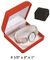 Soft Flocked Black Velour Bangle/Watch Gift Box