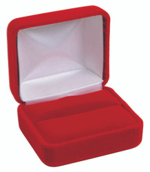Classic Red Velvet Double Ring Gift Box