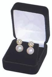 Soft Flocked Black Velour Earring Gift Box
