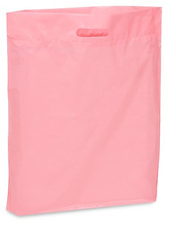 "20"" x 20"" x 5"" Pink Patch Handle Bags (50 Bags/Pk)"