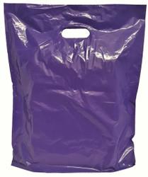 "20"" x 20"" x 5"" Purple Patch Handle Bags (50 Bags/Pk)"