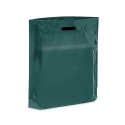 "20"" x 20"" x 5"" Dark Green Patch Handle Bags (50 Bags/Pk)"