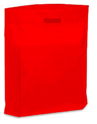 "20"" x 20"" x 5"" Red Patch Handle Bags (50 Bags/Pk)"