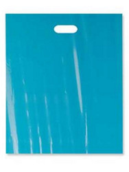 "20"" x 20"" x 5"" Teal Patch Handle Bags (50 Bags/Pk)"