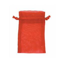 "Red Organza Bags - 12 Bags/Pack (6""W x 8""H)"
