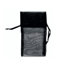 "Black Organza Bags - 12 Bags/Pack (5""W x 6""H)"