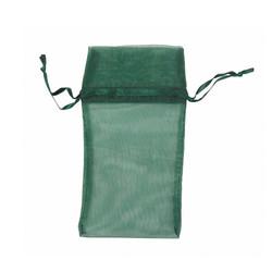 "Hunter Green Organza Bags - 12 Bags/Pack (5""W x 6""H)"