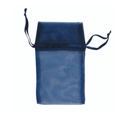 "Navy Organza Bags - 12 Bags/Pack (5""W x 6""H)"