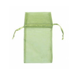 "Teal Green Organza Bags - 12 Bags/Pack (5""W x 6""H)"