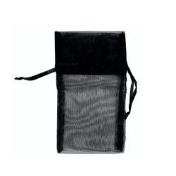 "Black Organza Bags - 12 Bags/Pack (2 3/4""W x 3""H)"