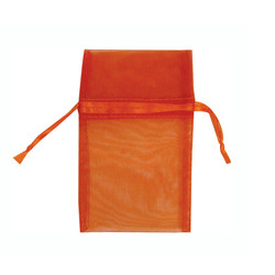 "Orange Organza Bags - 12 Bags/Pack (2 3/4""W x 3""H)"
