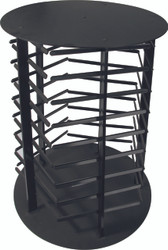 Black 5-Sided Rotating Earring Card Display Stand