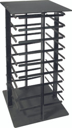 Black 4-Sided Rotating Earring Card Display Stand