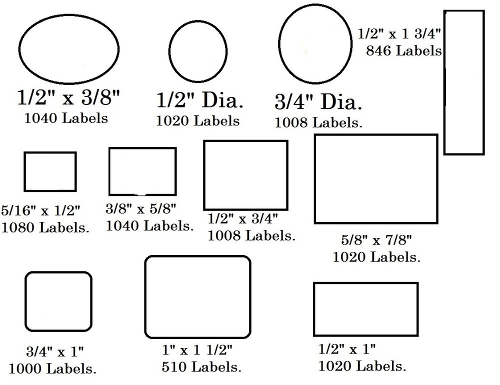 vertical rectangular self adhesive plain label 1000 labels 1 2 x