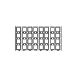 White 32 Compartment Puff Earring Card Flocked Tray Insert