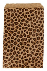 "Leopard Pattern Paper Bags - 5"" x 7"" - 100Bags/Pack"