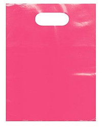 "Pink 12"" x 15"" Patch Handle Bags (100 Bags/Pk)"