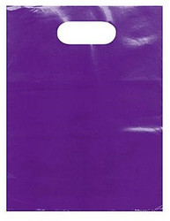 "Purple 12"" x 15"" Patch Handle Bags (100 Bags/Pk)"