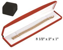 Black Soft Flocked Velour Bracelet/Watch Box