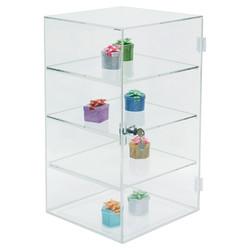 3 Removable shelf acrylic rectangular case w/Mirror Bottom
