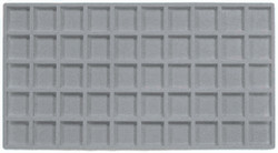 Grey 50 Compartment Flocked Tray Insert jewelry Liner