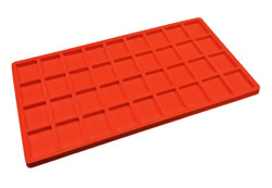 Red 36 Compartment Flocked Tray Jewelry Insert Liner