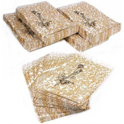 "Gold Tone Paper Bags - 8 1/2"" x 11"" - 100Bags/Pack"