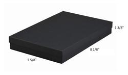 "10 Boxes-BlackMatteKraftCottonFilledBoxes-8 1/8"" x 5 5/8"" x 1""H"