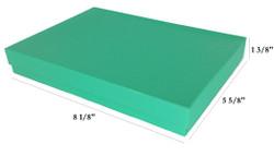 "10 Boxes-TealCottonFilledBoxes-8 1/8"" x 5 5/8"" x 1 3/8""H"