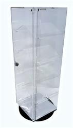 5 Removable slanted shelf acrylic case