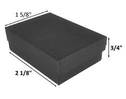 "10 Boxes-BlackMatteKraftCottonFilledBoxes-2 1/8"" x 1 5/8"" x 3/4""H"