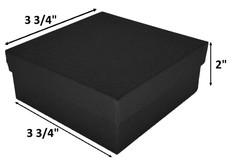 "10 Boxes-BlackMatteKraftCottonFilledBoxes-3 1/2"" x 3 1/2"" x 2""H"