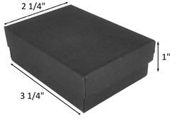"10 Boxes-BlackMatteKraftCottonFilledBoxes-3 1/4"" x 2 1/4"" x 1""H"