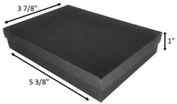"""Black Matte Kraft Cotton Filled Boxes - 5 3/8"""" x 3 7/8"""" x 1""""H"""