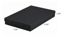 "10 Boxes-BlackMatteKraftCottonFilledBoxes-8 1/8"" x 5 5/8"" x 13/8""H"