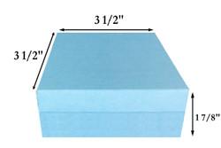 "10 Boxes-LightBlueKraftCottonFilledBoxes-3 1/2"" x 3 1/2"" x 1 7/8""H"