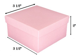 "10 Boxes-LightPinkKraftCottonFilledBoxes-3 1/2"" x 3 1/2"" x 1 7/8""H"
