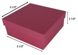 "10 Boxes-RedKraftCottonFilledBoxes-3 1/2"" x 3 1/2"" x 1 7/8""H"