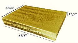 """10 Boxes Gold foil CottonFilledBoxes-8 1/8"""" x 5 5/8"""" x 1 3/8""""H"""