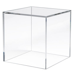 "Acrylic 5"" Display Cube w/One Side Open"